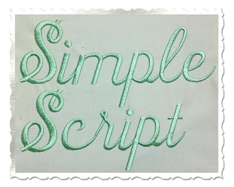 13 Simple Script Font Images