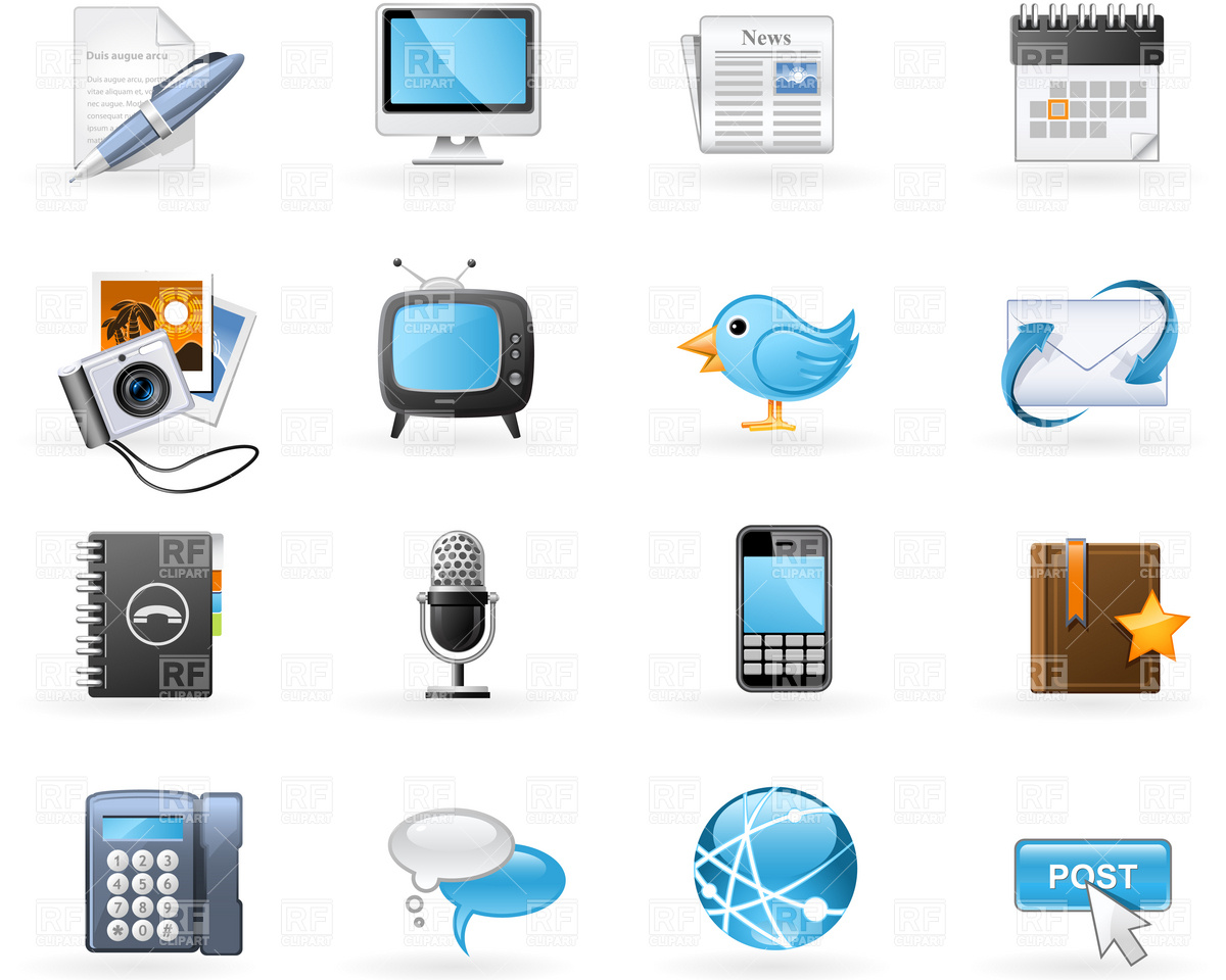 Social Media Icon Free Clip Art
