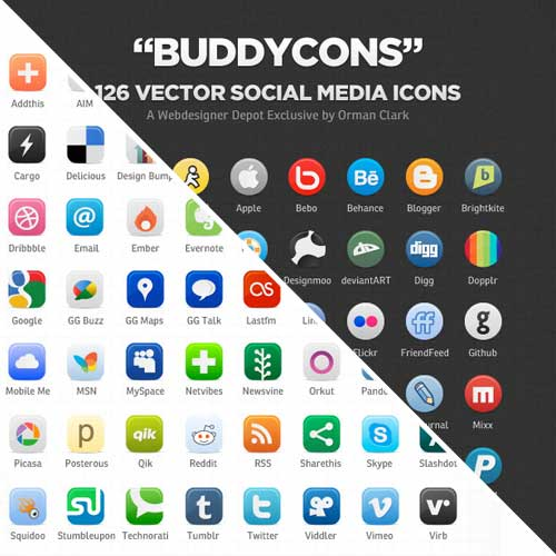 17 Social Media Icon Guide Images
