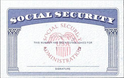 Social Security Card Blank Template