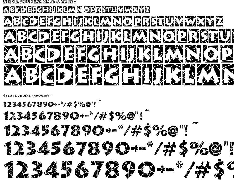Spider Web Block Font