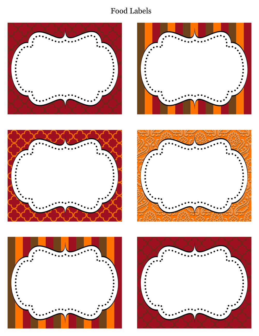 11 free printable label design template images printable round