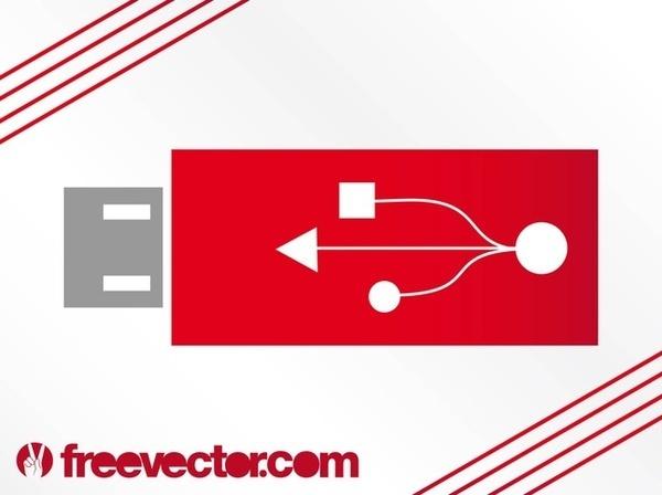 USB Flash Drive Clip Art Free