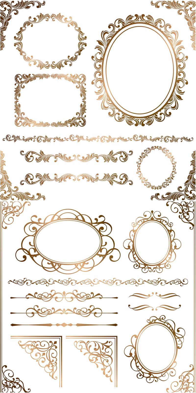 18 Baroque Frame Vector Border Images
