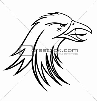 Vector Eagle Head Silhouette