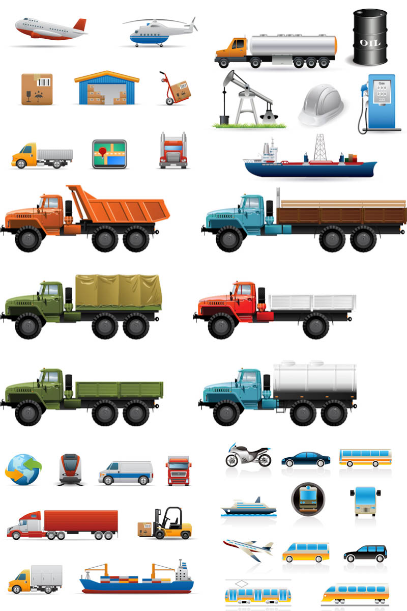 19 Vehicle Vector Icon Images