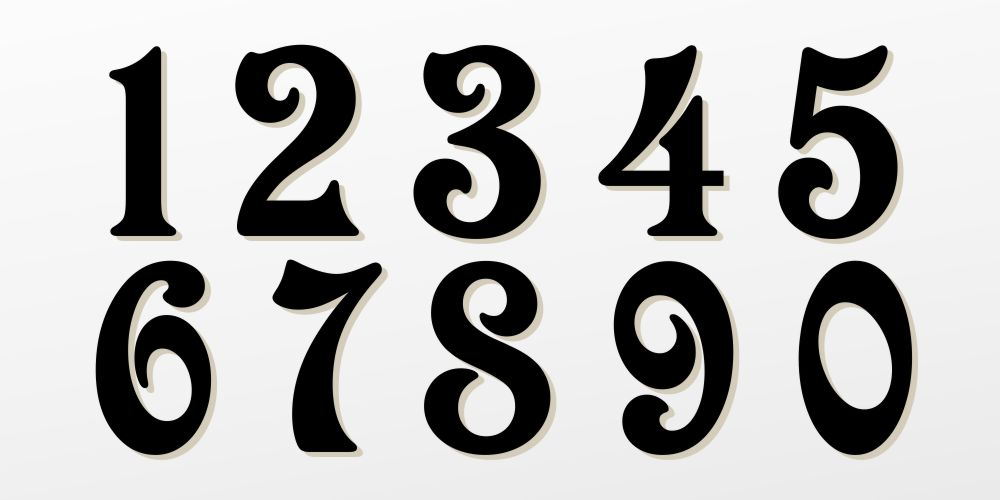 Victorian Fancy Number Fonts