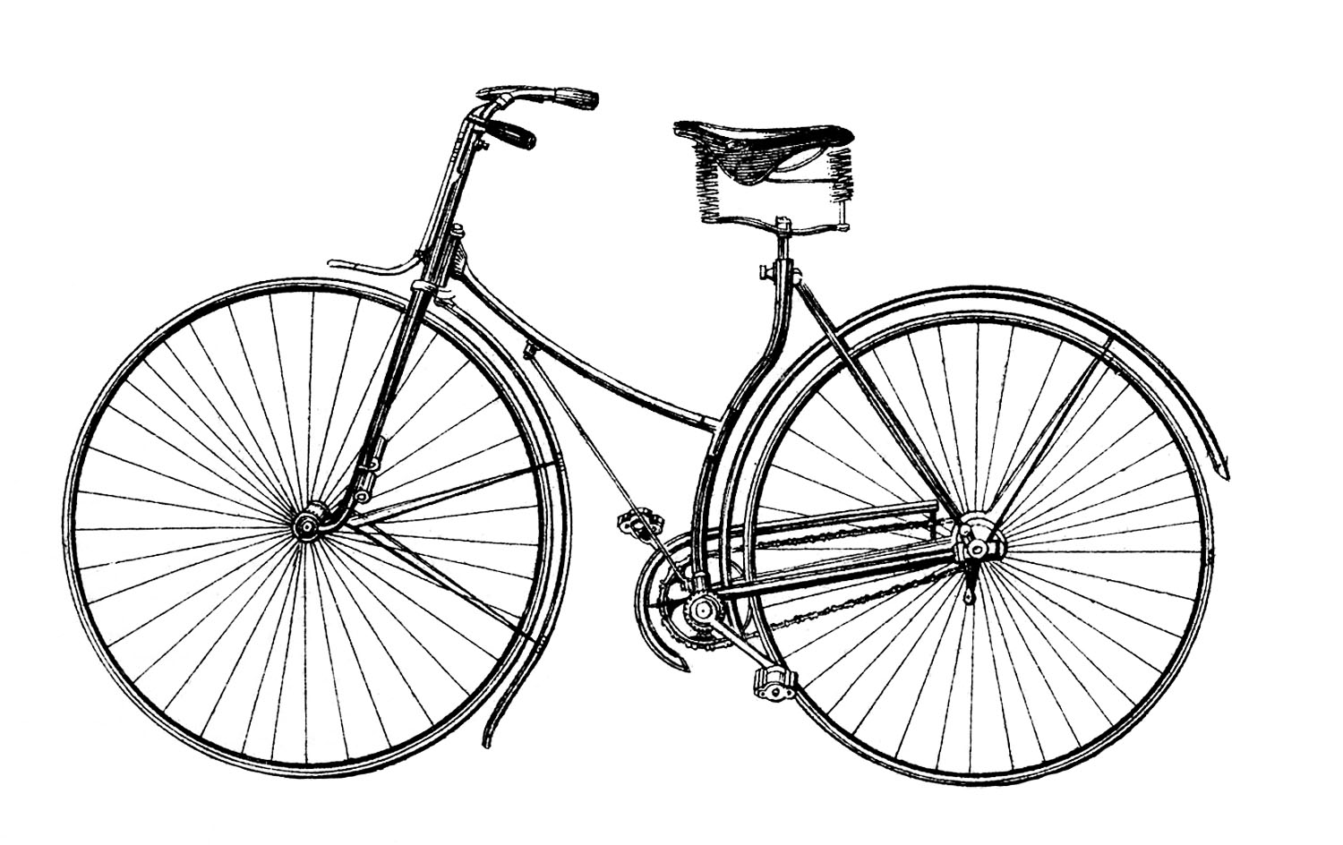 Vintage Bicycle Free Vector Downloads
