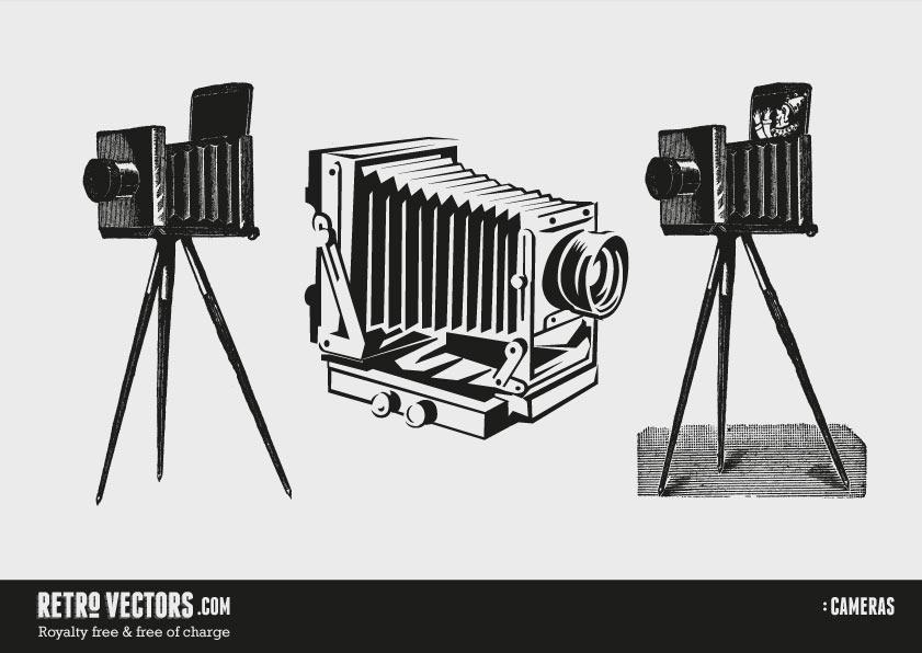 12 Classic Camera Vector Images