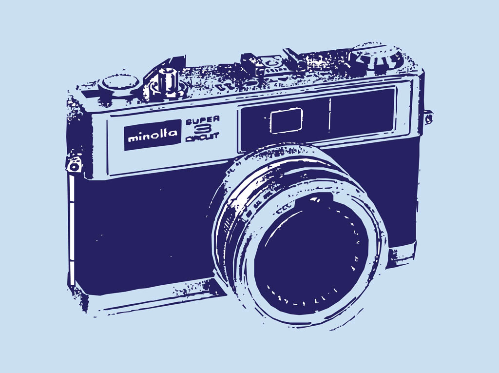 12 Classic Camera Vector Images - Vintage Camera Vector ...