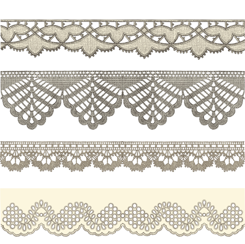 15 Lace Ribbon Vector Images