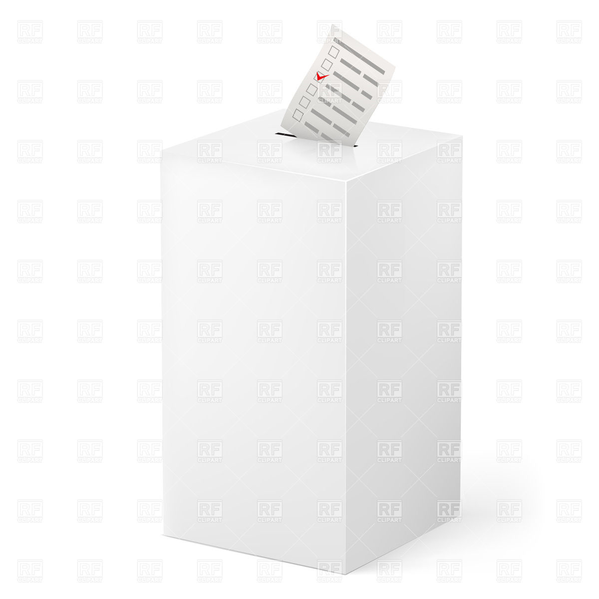 Voting Ballot Box Clip Art