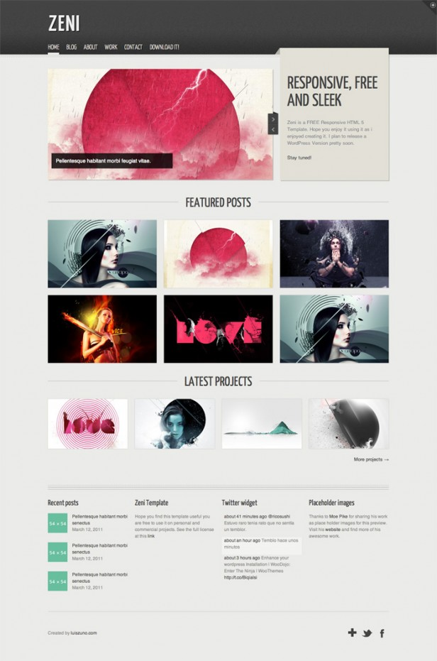 Web Responsive Website Templates PSD Free Download