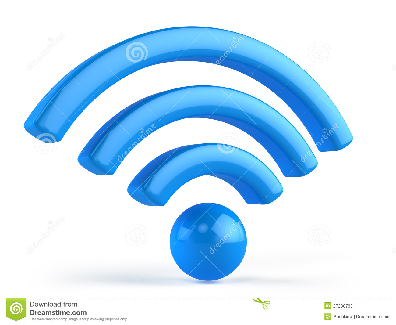 12 Wireless Signal Icon 3D Images