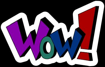 WoW Words Clip Art