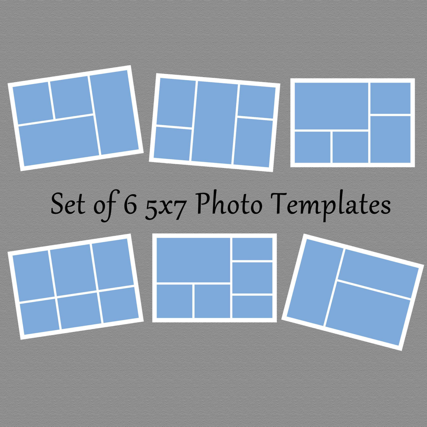5X7 Collage Template Photoshop