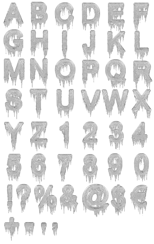 Alphabet Font That Looks Like Icicles