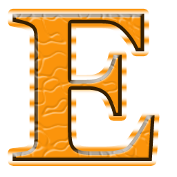 Alphabet Letter Capital E Icon