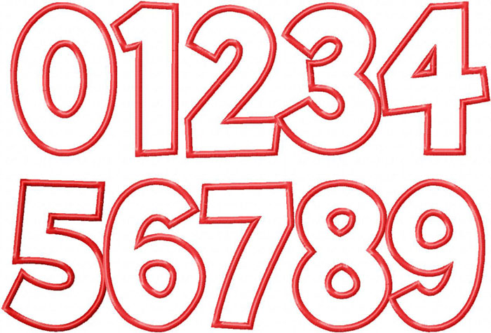 14 number embroidery fonts designs images embroidery for Blueprint number