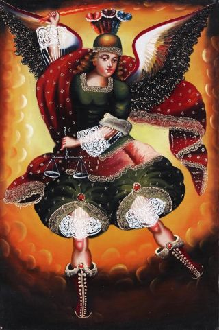 Archangel Michael Oil Painting