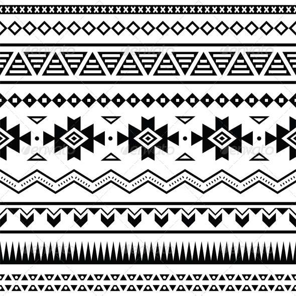 12 Mexican Pattern Vector Images