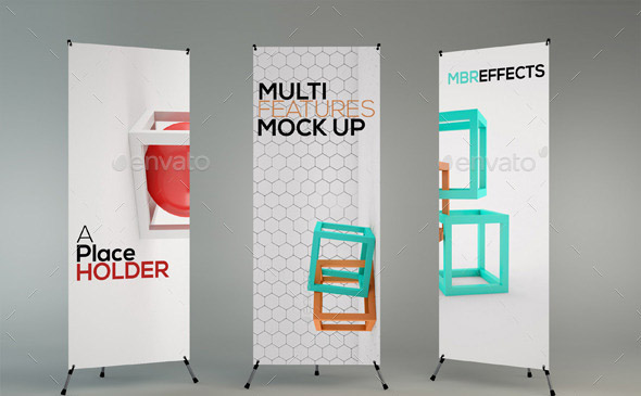 Mock Up Exhibition Stand Psd Free Download : Banner psd mockup images stand up
