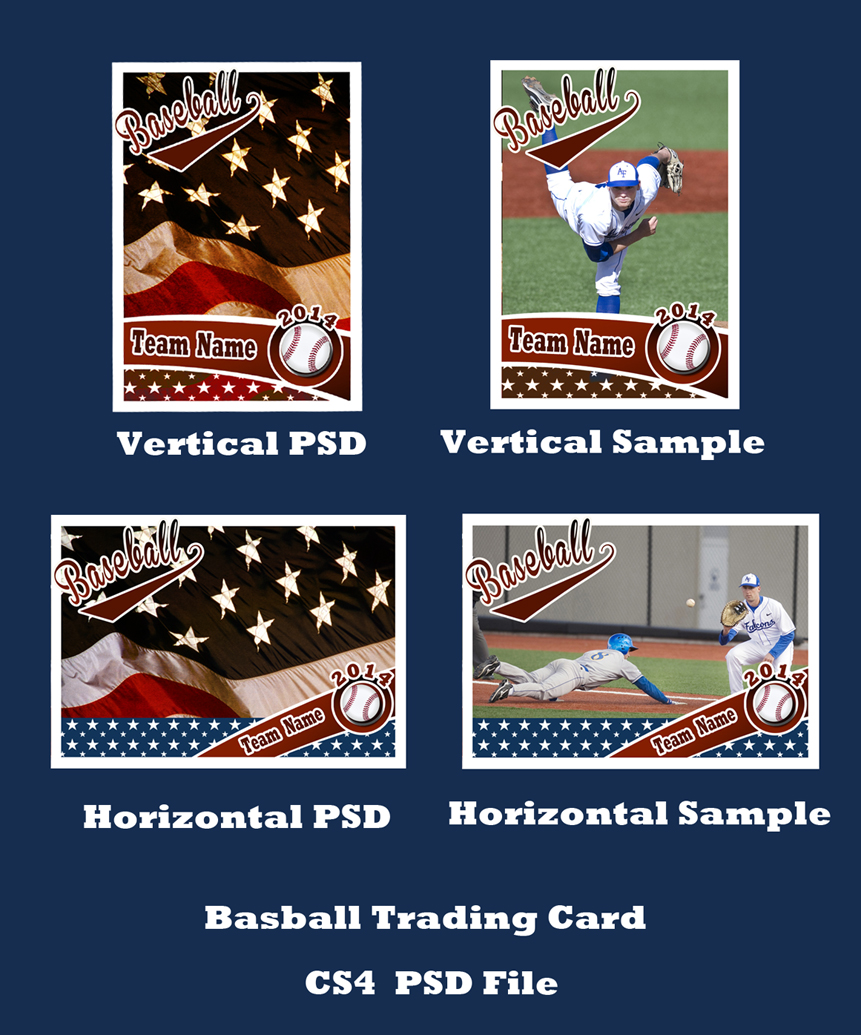 Baseball Card PSD Template