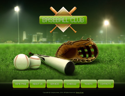 Baseball Website Templates