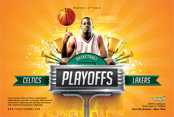 13 Basketball PSD Flyer Templates Images