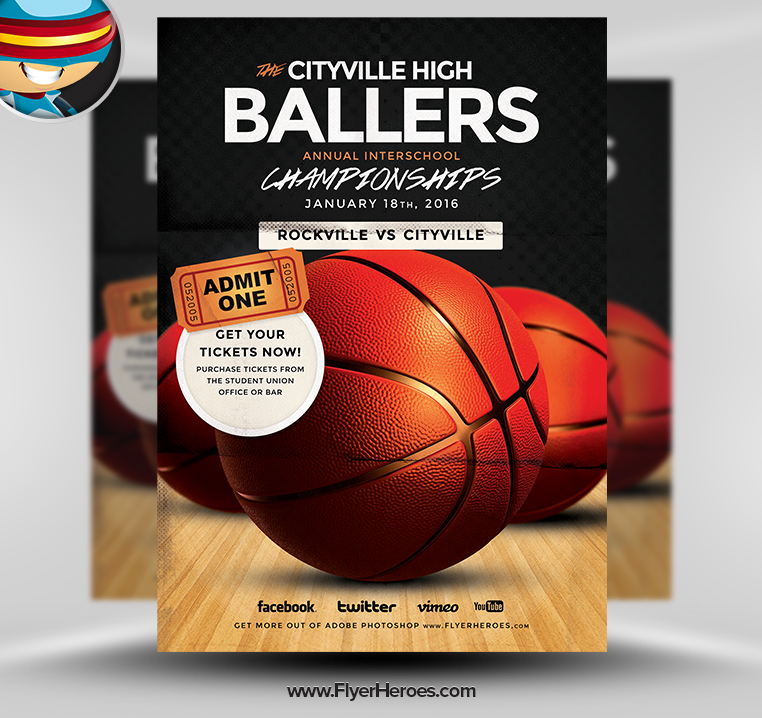 Nice Free Basketball Flyer Template Contemporary  Example Resume