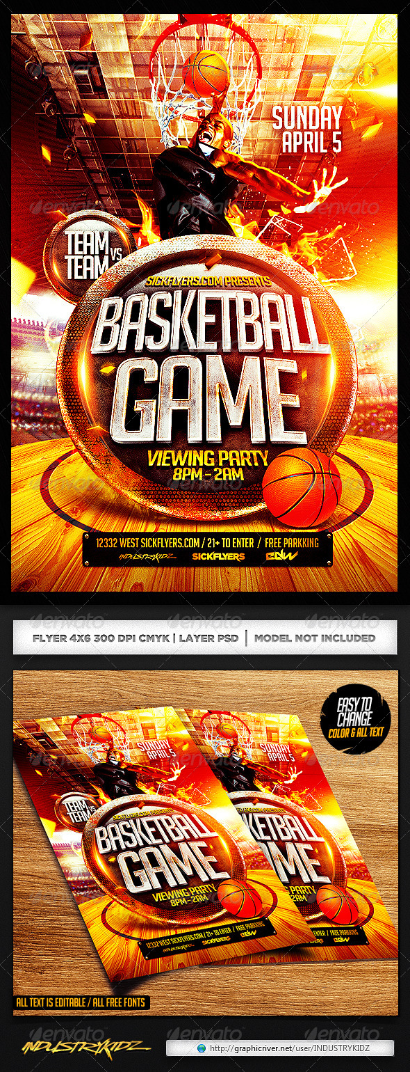 Basketball Sports Flyer Inspiration Ibovnathandedecker