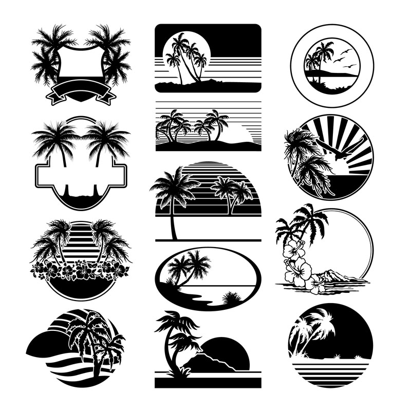 14 Label Vector Silhouettes Images
