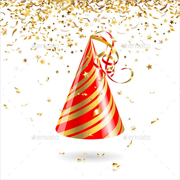 7 PSD Birthday Hat Images