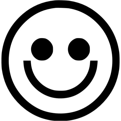 Smiley Face Emoticon Black And White | www.imgkid.com ...
