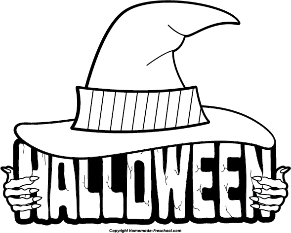 black and white halloween graphics images black and white - Halloween Graphics Clip Art