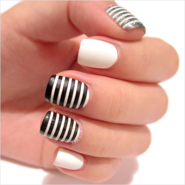 14 Black And White Designs Nail Art Tutorial Images