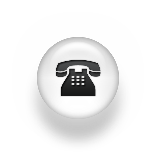 Black and White Phone Icon