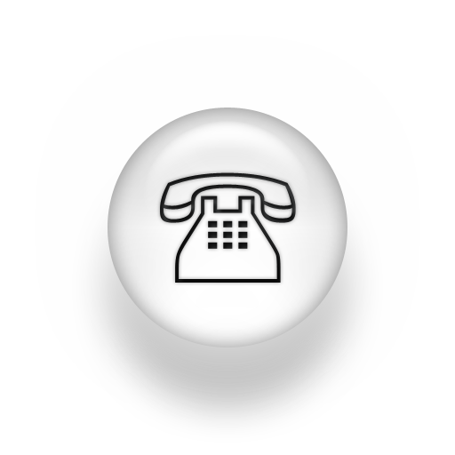 Black and White Telephone Icon