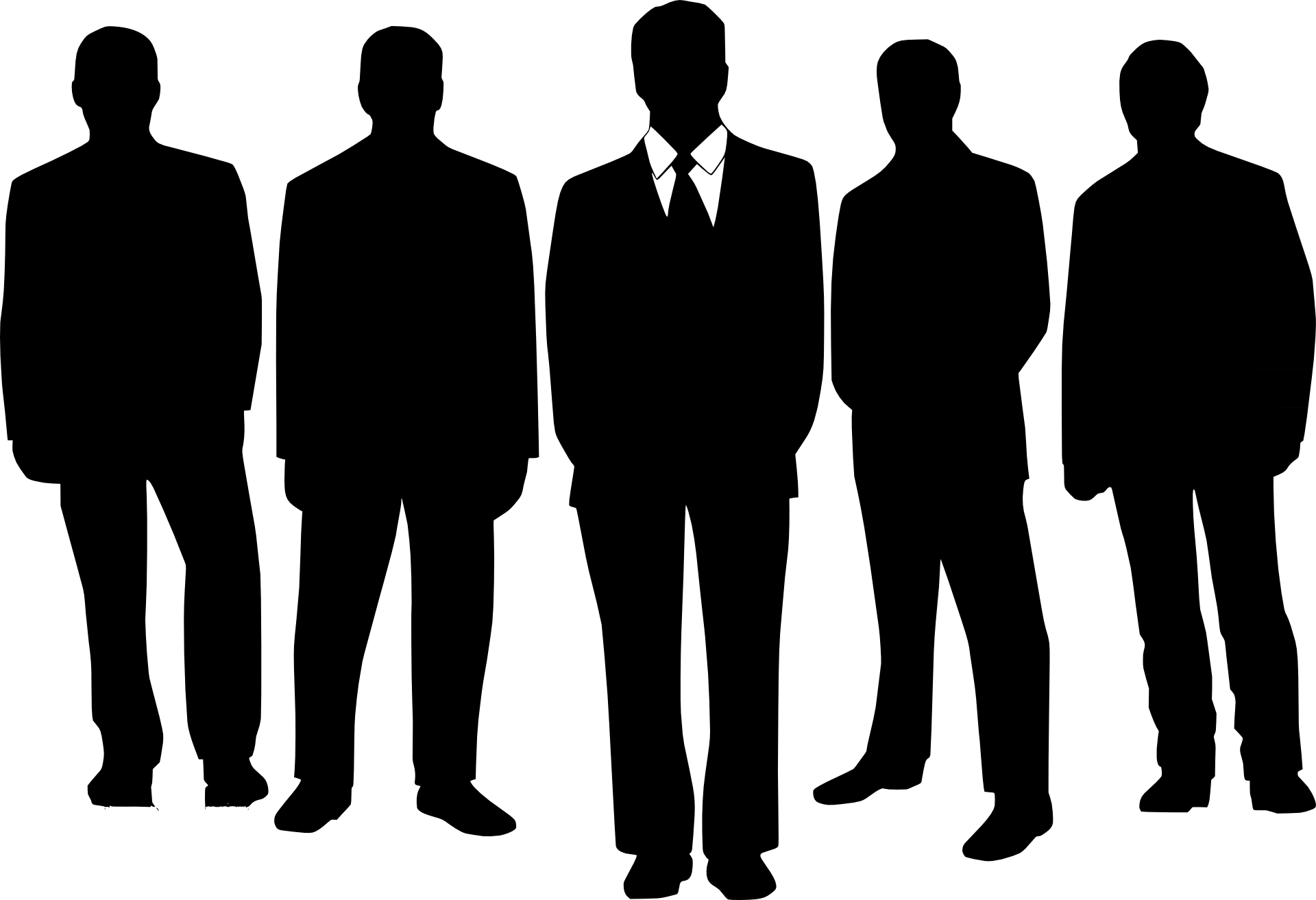 8 Business People Silhouette Vector Images
