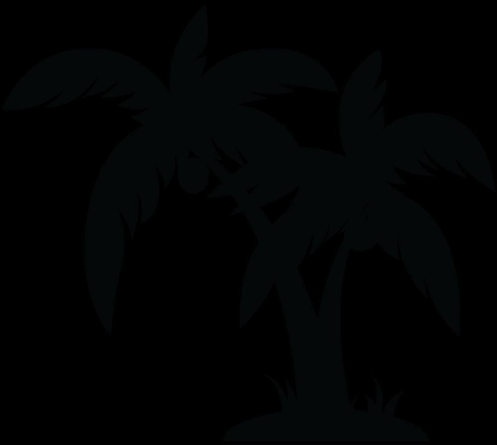 Black Palm Tree Clip Art
