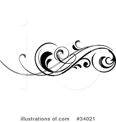 Black Scroll Clip Art