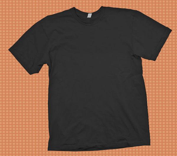 Black T-Shirt Mockup PSD