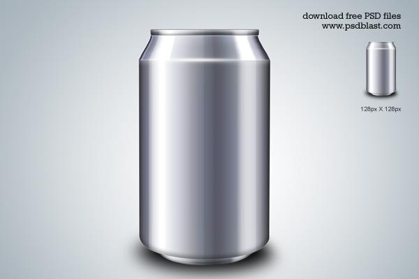 Blank Energy Drink Can