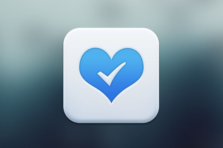 Blue Mobile App Icon