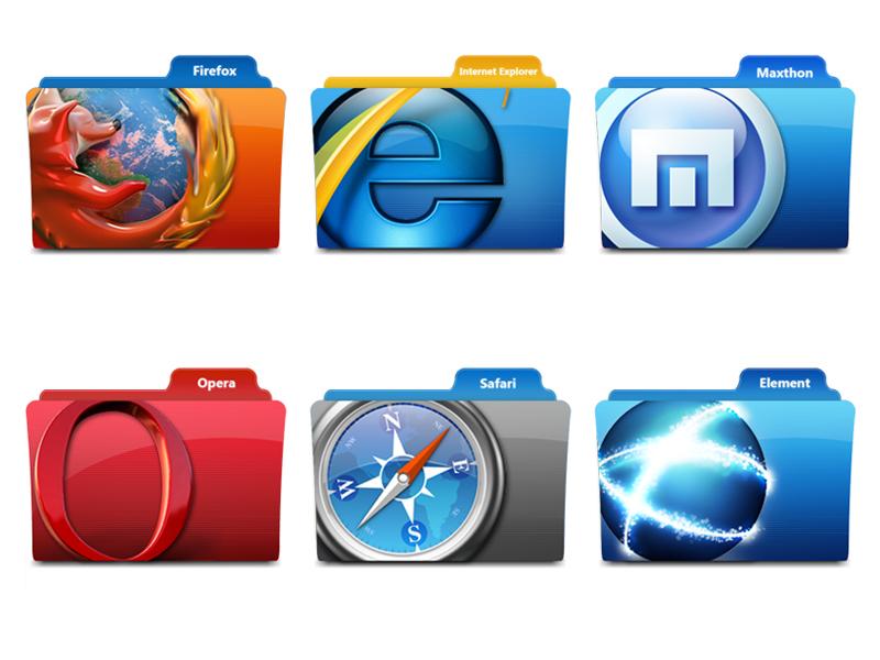 Browser Icon Web Folder
