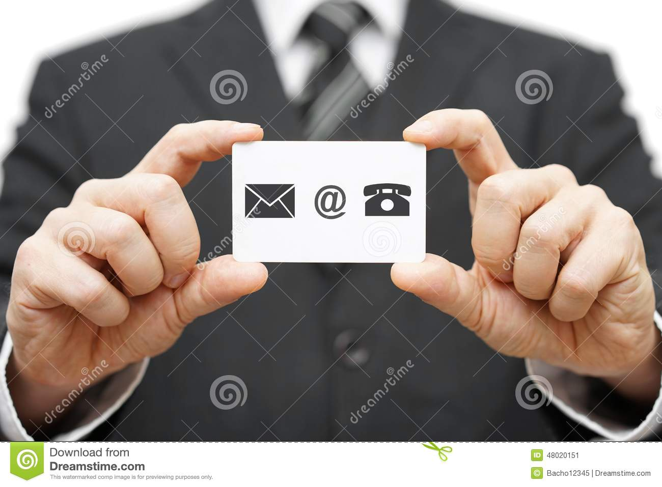 Business Card Icons Phone email