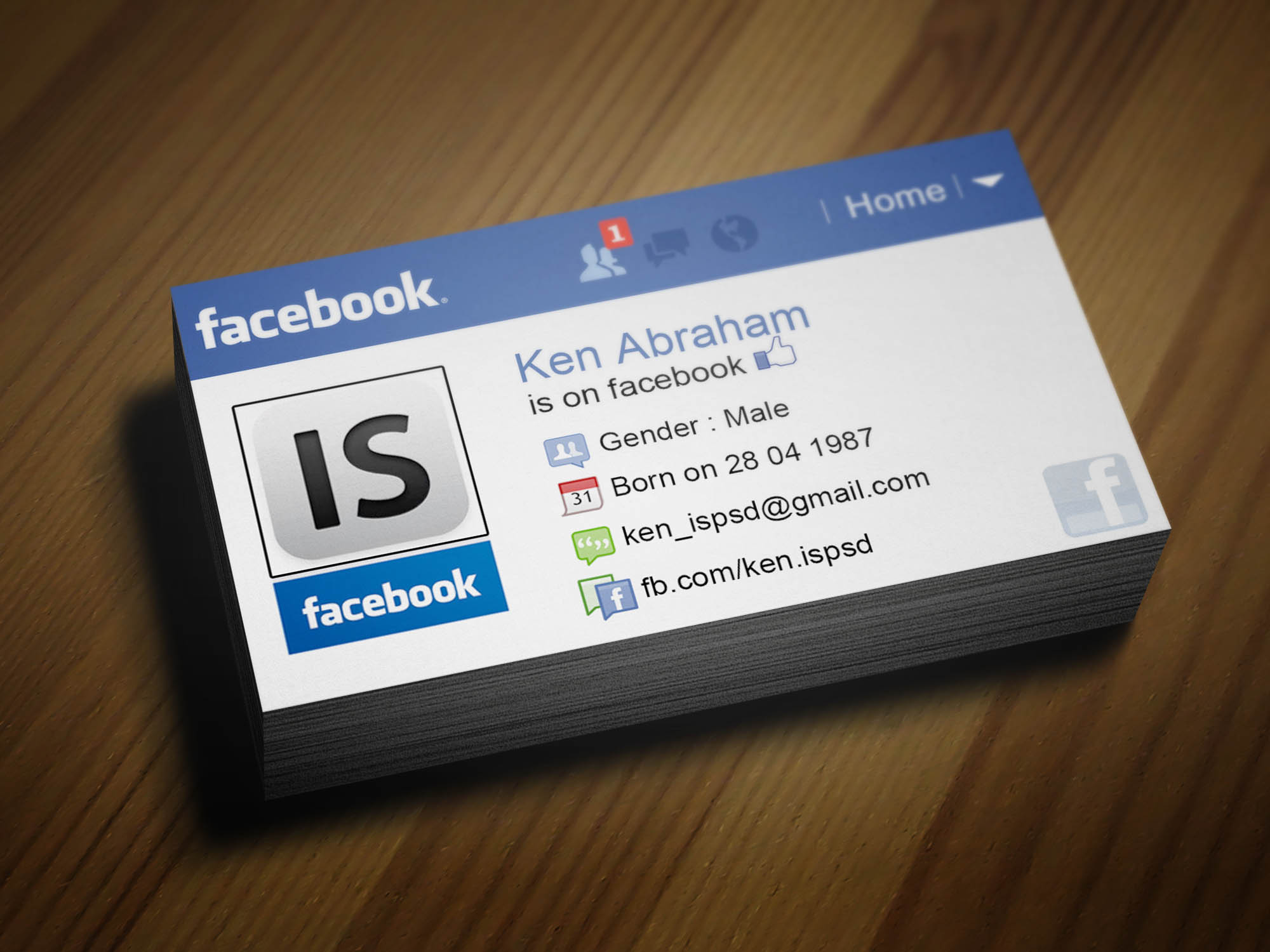 Facebook Icon For Business Card Images