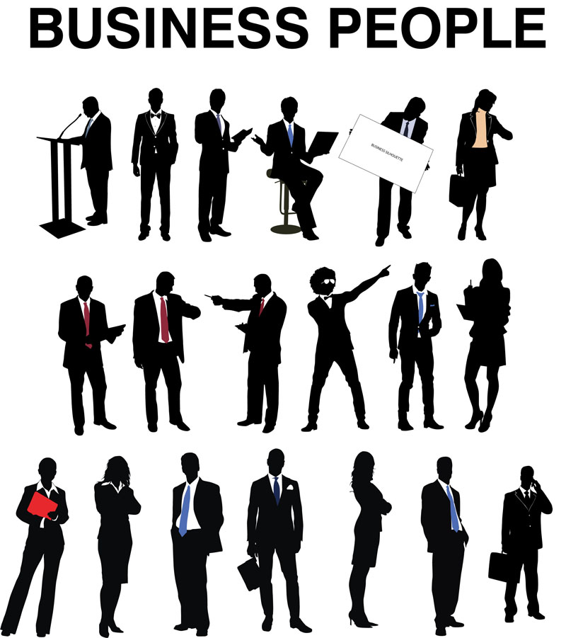 17 Business Silhouette Vector Images - Business People ...