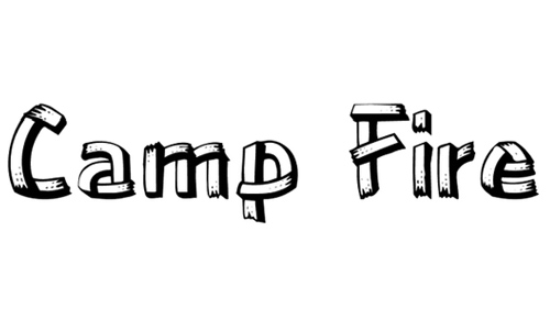 17 Camping Wood Font Images