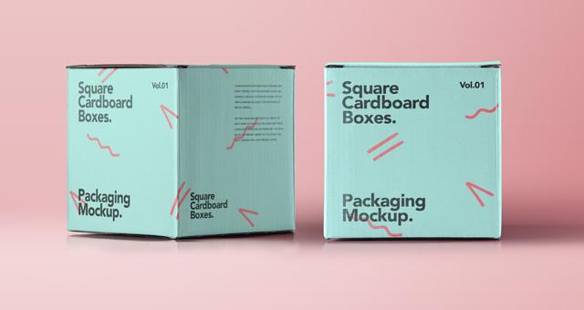 Cardboard Box Mock Up Psd